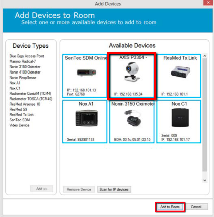 IP video device configuration (Noxturnal 5 0 and 5 1) – Nox